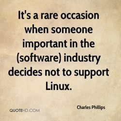 It's a rare occasion 