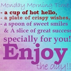 Monday Time: 