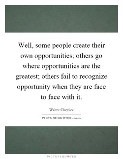Well, some people create their 