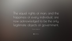 The equal rights 01 man, and the 