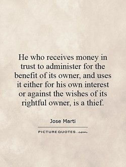 He who receives money in 