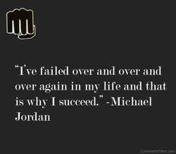 'T ve failed over and over and 