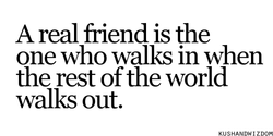 A real friend is the 