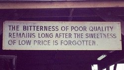 THE BITTERNESS OF POOR QUALITY 