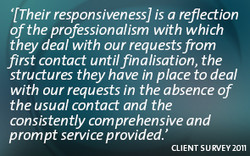 '[Their responsiveness] is a reflection 