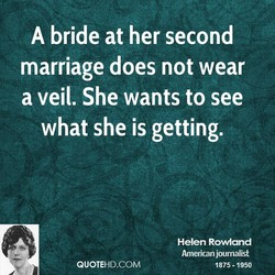A bride at her second 