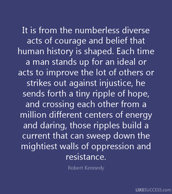 It is from the numberless diverse 