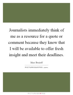 Journalists immediately think of 