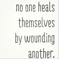 no one heals 