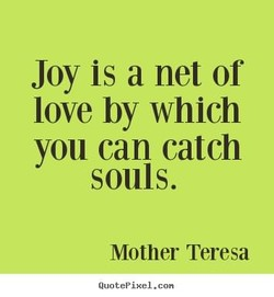 Joy is a net or 