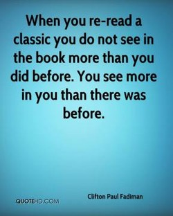 When you re-read a 