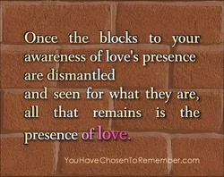 Once the blocks to your 