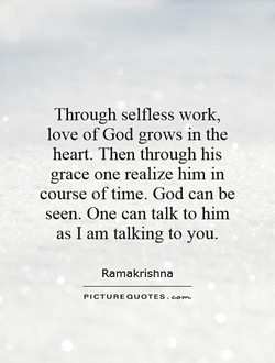 Through selfless work, 