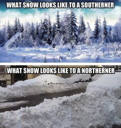WHAT SNOW LOOKS LIKE TO A SOUTHERNER 