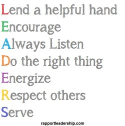 Lend a helpful hand 