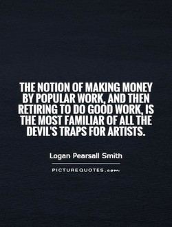 THE NOTION OF MAKING MONEY 