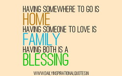 HAVING SOMEWHERE TO GO IS 