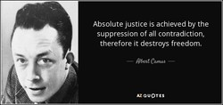 Absolute justice is achieved by the 