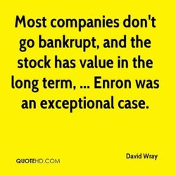 Most companies don't 