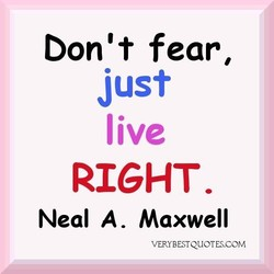 Don't fear, 