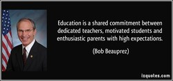 Education is a shared commitment between 