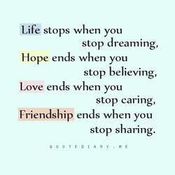 Life stops when you