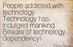 People addicted wth 