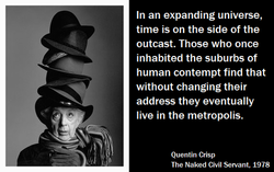 In an expanding universe, 