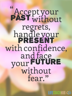 Accept your PAST without regrets, handle our PRESåNT with confidence, and face FUTURE your without fear.'