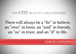 THE #295 RULE OF A RELATIONSHIP 