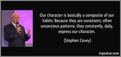 Our character is basically a composite of our 