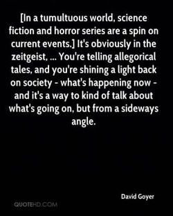 (In a tumultuous world, science 