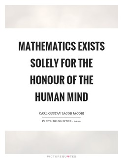 MATHEMATICS EXISTS 