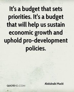It's a budget that sets 