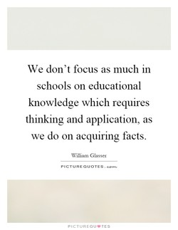 We don't focus as much In 