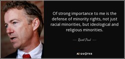 Of strong importance to me is the 