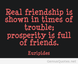 Real friendship is 