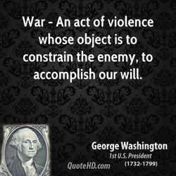 War - An act of violence 