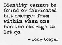 Identity cannot be 