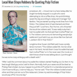 Local Man Stops Robbery By Quoting Pulp Fiction 