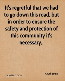 It's regretful that we had 