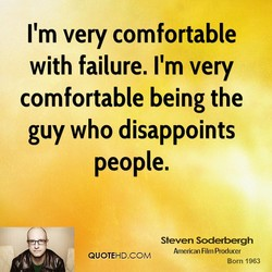 I'm very comfortable 