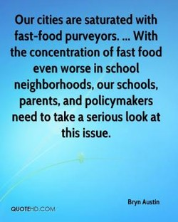 Our cities are saturated with 