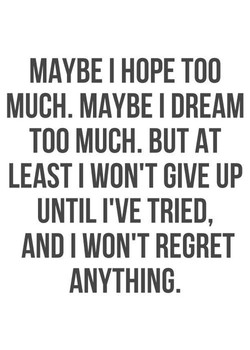 MAYBE I HOPE TOO 