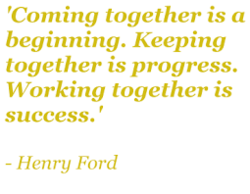 'Coming together is a 