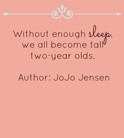 Without enough 