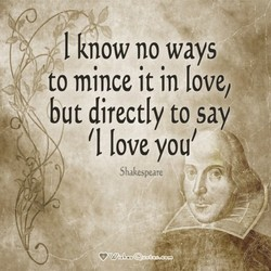 I know no ways 