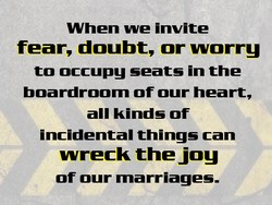 When we invite 
