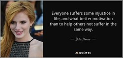 Everyone suffers some injustice in 