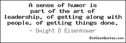 A sense of humor is 